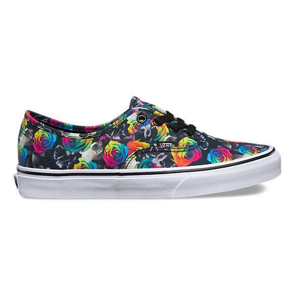 e592afae0ac Dámské boty Vans Authentic 16 17 - Rainbow Floral ( Black   True ...