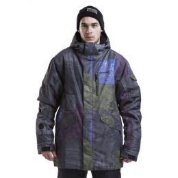 Pánská zimní bunda Meatfly The Edge 15/16 - F-Aftermath print