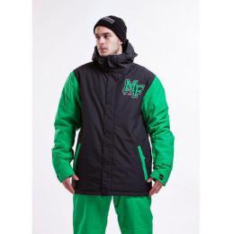 pánská zimní bunda Meatfly Strike Jacket 15/16 - C-Black/Green
