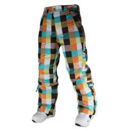 dámské snowboard kalhoty Meatfly Uni Pants - C-checkers blue- orange