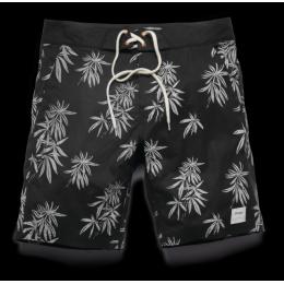 šortky Altamont Hervs Boardshort 2016 - BLACK/WHITE