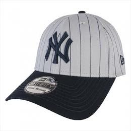 kšiltovka New Era 3930 Pinstripe Stretch NY 2016 - grey/navy