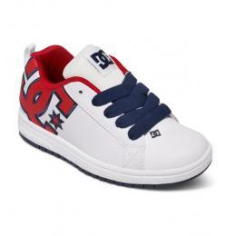 dětské boty DC Court Graffik SE 16/17 - WHITE/red/BLACK(XWRK)