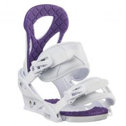 dámské snowboardové vázání Burton Stiletto Disc 16/17 - WHITE/PURPLE