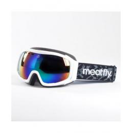 SNB Brýle Meatfly Aether 2  Goggles 16/17 - B - White / Green Chrome