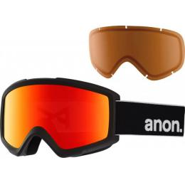 brýle na snowboard/lyže Anon Helix 2 Sonar 18/19 - BLACK/SONAR RED BY ZEISS