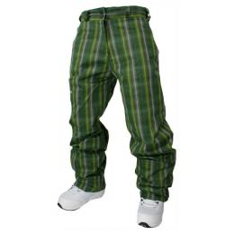 snb kalhoty MeatFly Basic Pants11/12 w - C green plaid
