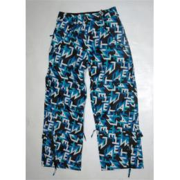snb kalhoty MeatFly Kids 11/12 y - C/letters black-blue