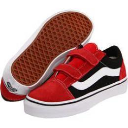 boty Vans Old Skool V kids 12 - high risk red/true white
