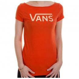 dámské tričko Vans Allegiance scoop 13/14 - spicy orange
