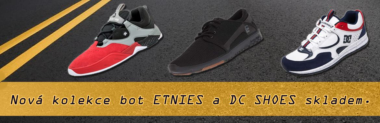 nové boty Etnies a DC skladem