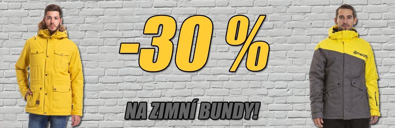 30% sleva na zimní bundy