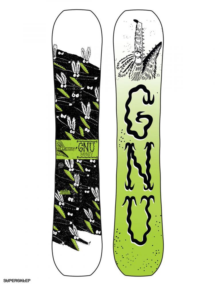 pánský snowboard GNU Money C2E  19/20 - pánský snowboard GNU Money C2E 19/20 -> black g
