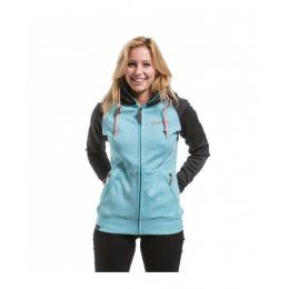 Dámská mikina Meatfly Alisha 2 Technical Hoodie 17/18 - B - Black Heather /Aqua Heather