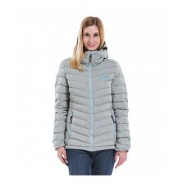 Dámská bunda Meatfly Bella 2 PUff Jacket 17/18 - C - Ash Grey Heat / Sky Blue