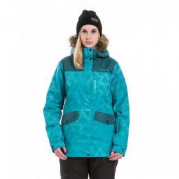 dámská zimní bunda Meatfly Chelsea2 17/18 A-Turquise Triangle print