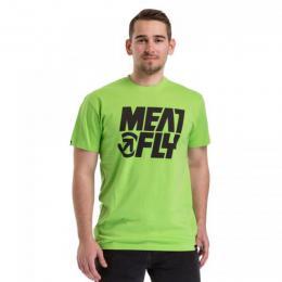 Pánské triko Meatfly Shaper 2 2018 D - Green flash