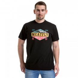 Pánské triko Meatfly Bugler 2  2018 A - Black