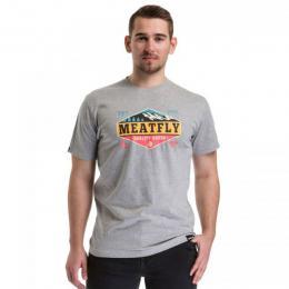 Pánské triko Meatfly Bugler 2  2018 C - Heather Gray