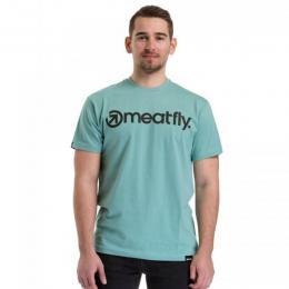 Pánské triko Meatfly Logo 2018 F - Dusty Mint