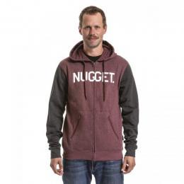 Mikina Nugget Typer 2 Hoodie 18/19 C - Ht.Charcoal/Dark Burgundy