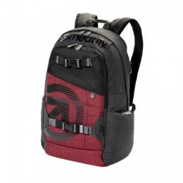 batoh Meatfly Basejumper 4 Backpack 18/19 L- Dark Heather Grey, Burgundy