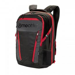 batoh Meatfly Poetrik Backpack 18/19 A-Black, Grey, Red