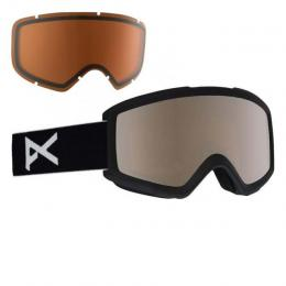brýle na snowboard/lyže Anon Helix 18/19 - BLACK/SILVER AMBER