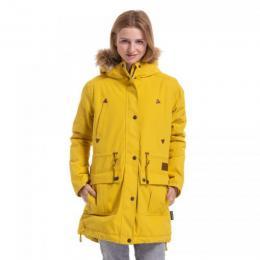 Dámská bunda Meatfly Rainy 3 Parka 18/19 F - Yellow