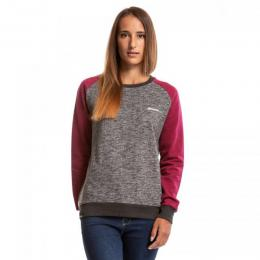 Mikina Meatfly Brody Pullover 18/19 B - Wine/Heather Dark Grey