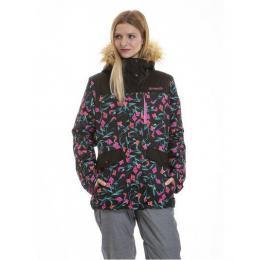 dámská zimní bunda Meatfly Chelsea 3 Jacket 18/19 C - Kala Flowers, Black