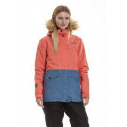 dámská zimní bunda Meatfly Chelsea 3 Jacket 18/19 E - Bluefly Heather/Salmon Heather