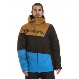 Pánská zimní bunda Meatfly Trick 3 18/19 A - Blue Heather/Black/Camel Heather