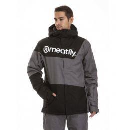 Pánská zimní bunda Meatfly Trick 3 18/19 C - Black/Grey Heather