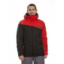 Pánská zimní bunda Meatfly Rocco 18/19 A Black, Paul Red