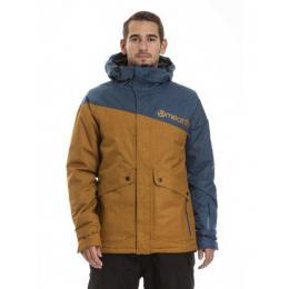 Pánská zimní bunda Meatfly Rocco 18/19 C - Camel Heather/Indigo Heather