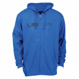 mikina Lib Technologies Logo Hooded Zip 18/19 royal