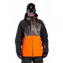 Pánská zimní bunda Nugget Mir 2 in 1 18/19 A - Black/Delta Olive/Orange