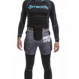 Chránič Meatfly Norris 2 Shorts 18/19 A - Black, Grey