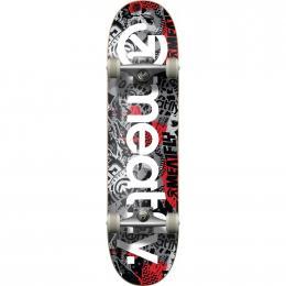 skateboard Meatfly Brand Logo 2 SK8 Complet 2019 DOPRAVA ZDARMA B-Grey Mosh, Red