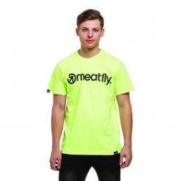 Tričko Meatfly Logo 2019 E - Safety Yellow