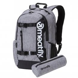 Batoh Meatfly Basejumper 5 20L 19/20 D- Heather Gray, Black