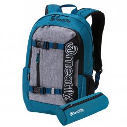 Batoh Meatfly Basejumper 5 20L 19/20 E - Heather Petrol, Heather Gray