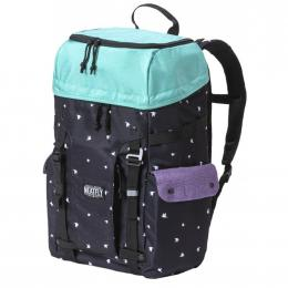 batoh Meatfly Scintilla 2 Backpack 19/20 F- Ht. Light Mint, Birds Black, Ht. Violet