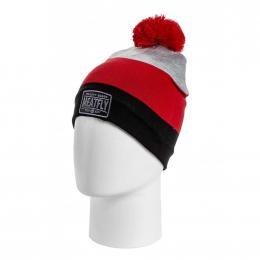 Zimní čepice Meatfly Downey 2 19/20 C - Red Stripe