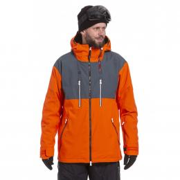 Zimní Bunda Nugget Kestrel Jacket 19/20 E - Lead Grey, Orange