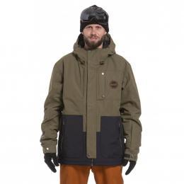 Pánská Snowboardová bunda Nugget Falcon 19/20 E - Olive Ripstop, Black
