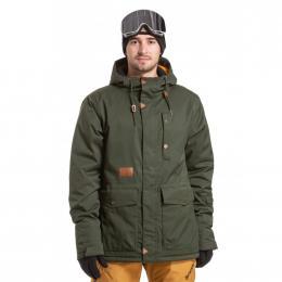 zimní bunda Meatfly Rell 19/20 E - Green Stripe