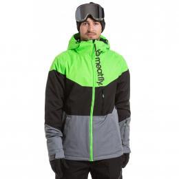 Pánská Zimní bunda Meatfly Hoax 19/20 A - Safety Green, Black, Grey Heather