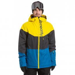 Pánská Zimní bunda Meatfly Hoax 19/20 B - Sun Yellow, Gunmetal, Blue Melange